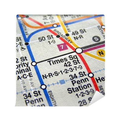 New york subway wall mural wall murals youll love new york subway map wall mural vinyl pixers we live to change sciox Choice Image