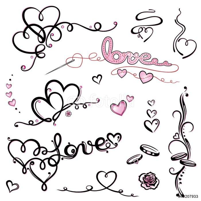Valentinstag, Valentin, Herz, Herzen, Liebe, love, set Wall Mural ...
