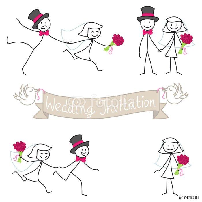 Stick Figure Wedding Invitations