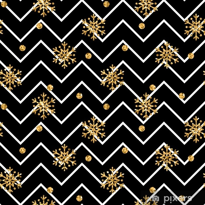 Aufkleber Weihnachten Gold Schneeflocke Musterdesign. golden Glitter ...
