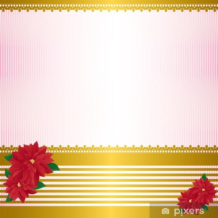 Aufkleber Weihnachtsstern Hintergrund • Pixers® - Wir leben, um zu ...