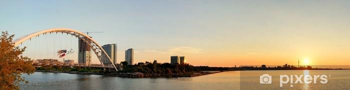 Autocolante Pixerstick Toronto sunrise panorama - América