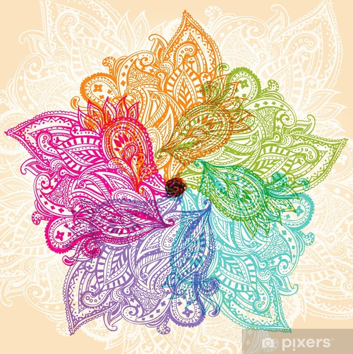 Pixerstick Dekor Mandala symbol - Teman