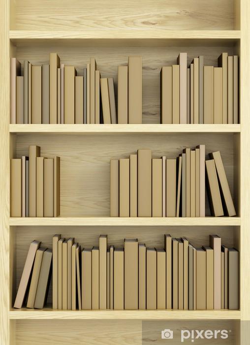 vinyl fotobehang boekenkast met boeken openbare gebouwen