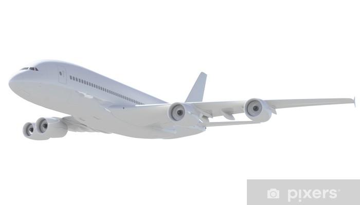 Fotomural Avión de pasajeros Blanco. Una vista lateral • Pixers ...