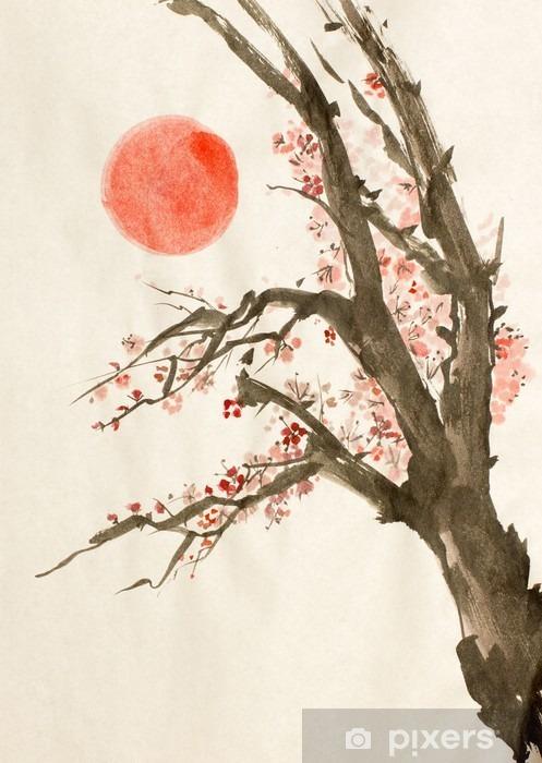 Fotomural Estándar Ciruelo rojo sol - Plantas y flores