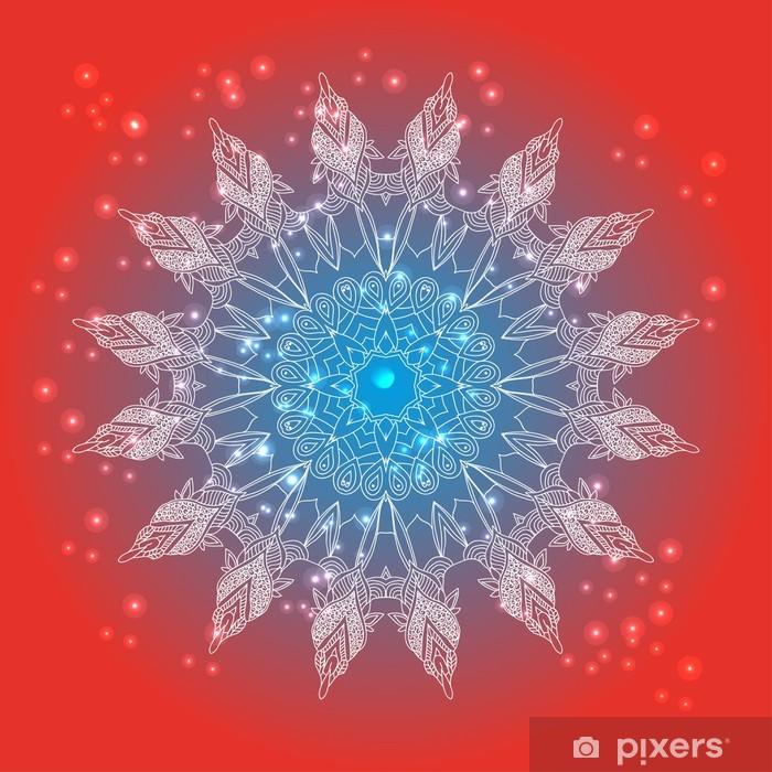 Fotomural Estándar Delicado encaje vector patrón floral redondo - Religión