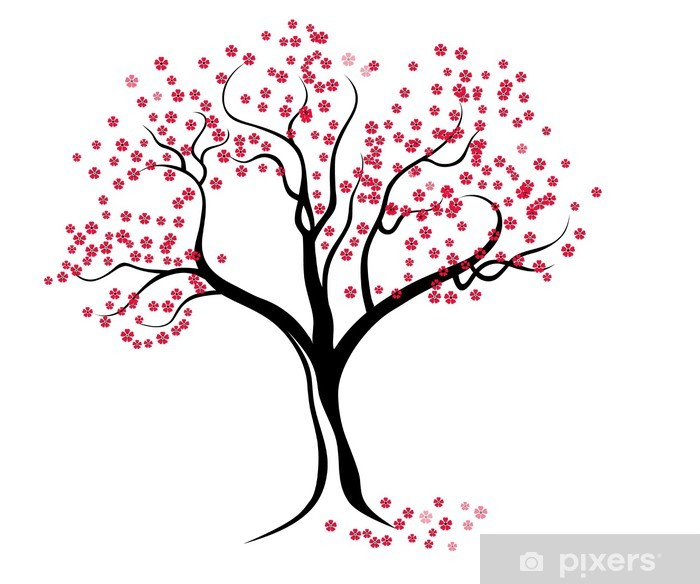 Fotomural Flores de cerezo (estilo de Japón) • Pixers® - Vivimos ...