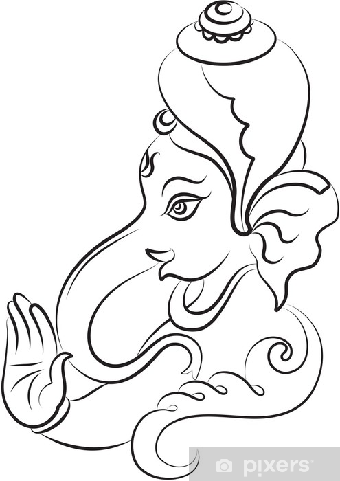 Fotomural Ganesh Diwali arte caligráfico • Pixers® - Vivimos para ...