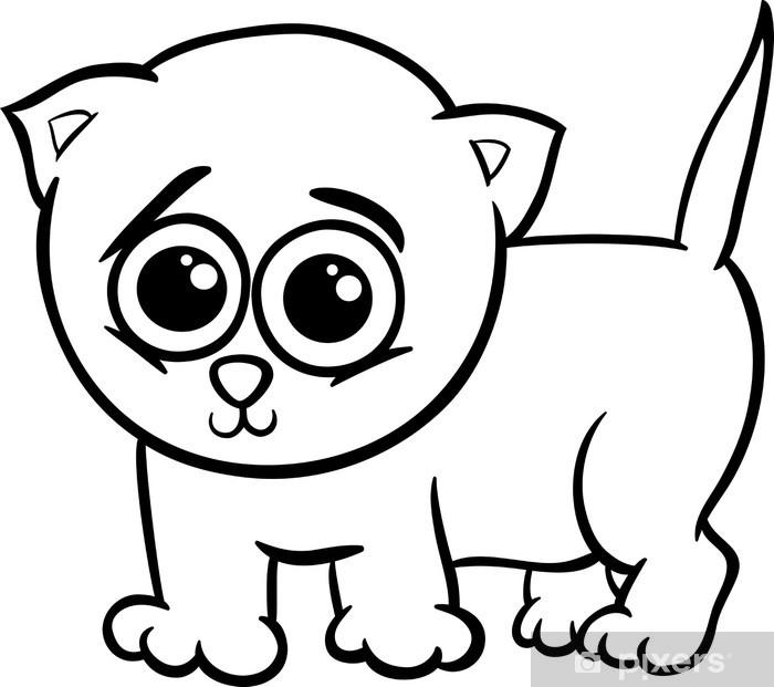 Fotomural Gatito del bebé para colorear de dibujos animados • Pixers ...