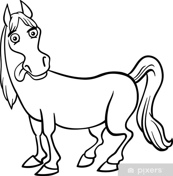 Fotomural Historieta del caballo granja de libro para colorear ...