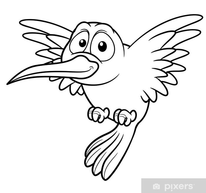 Fotomural Ilustración de dibujos animados del colibrí - Libro para ...