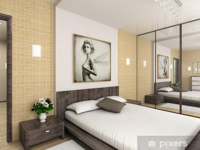 Fotomural Interior Moderno Render 3d Dormitorio Diseno Exclusivo - Dormitorio-diseo-moderno
