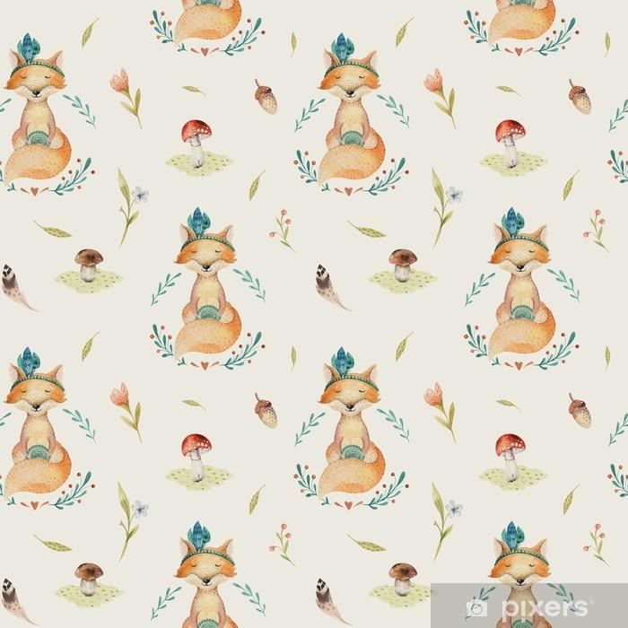 Fotomural Lindo bebé zorros animales de patrones sin fisuras para ...