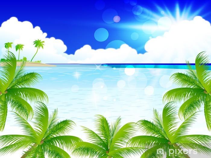 Fotomural Estándar Mar del paisaje palma - Agua