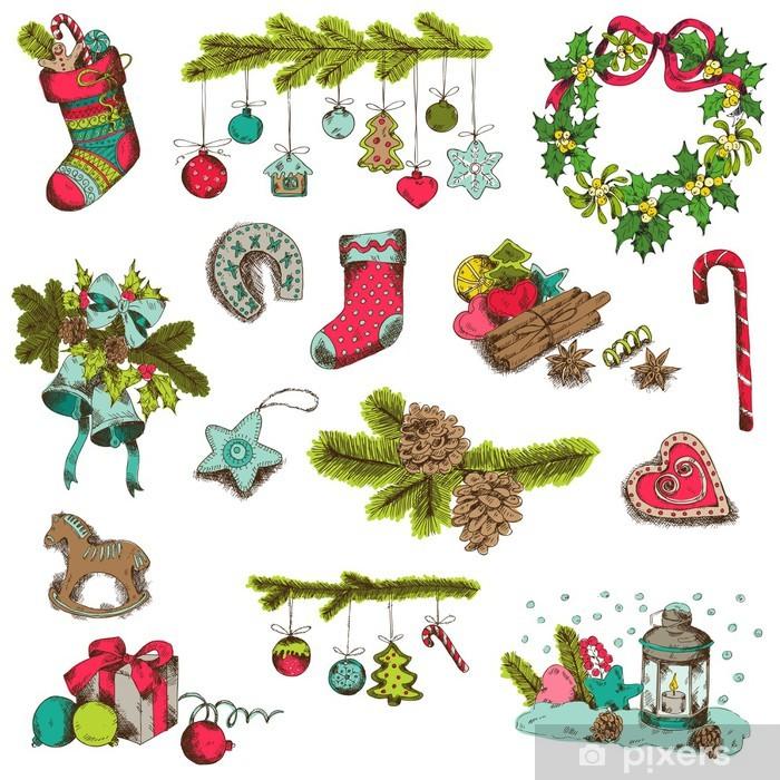Fototapete Satz von Weihnachten Elemente - für Design-und Scrapbook ...