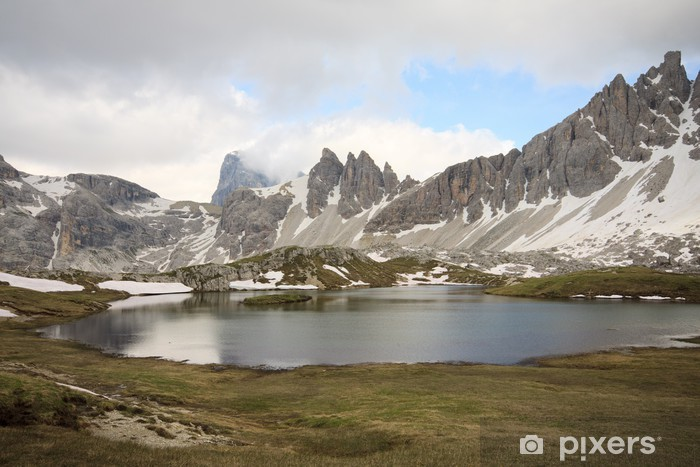 Fototapete See Und Berg Paterno Pläne   Dolomiten