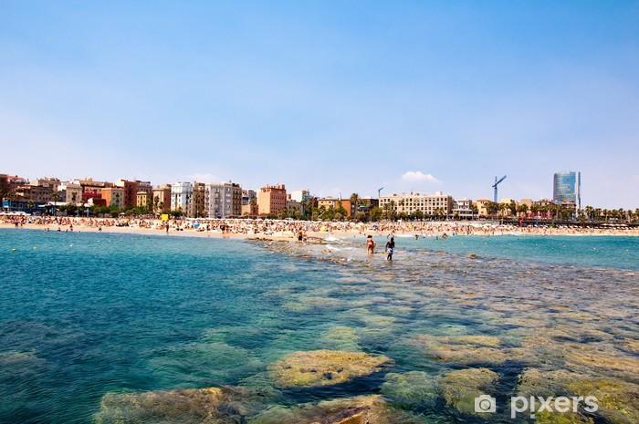 Fototapete Strand Von Barcelona Pixers Wir Leben Um Zu Verandern