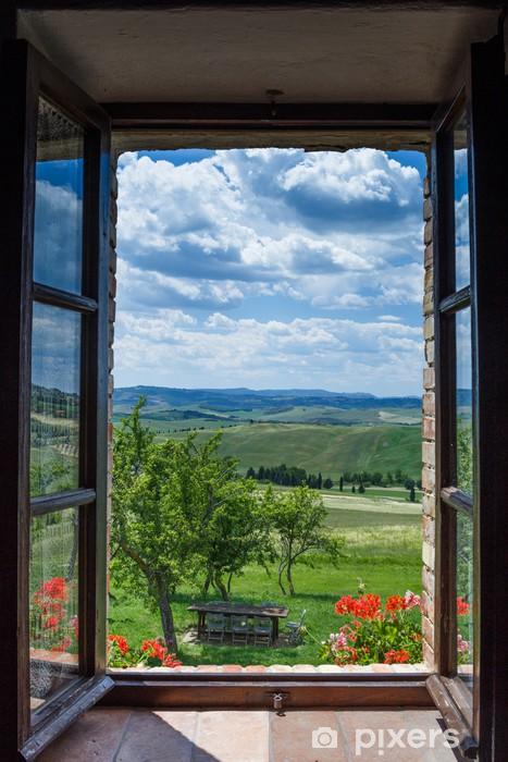 Fototapete toskana landschaft aus dem fenster pixers wir leben um zu ver ndern - La finestra biz srl ...