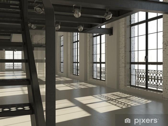 Fototapete weiß minimalistischen loft interieur 3d render u2022 pixers