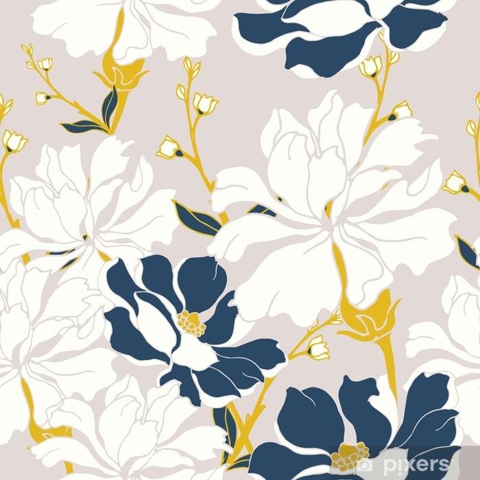 Fototapet av Vinyl Abstrakt elegans mönster med blommig bakgrund. - Växter & blommor