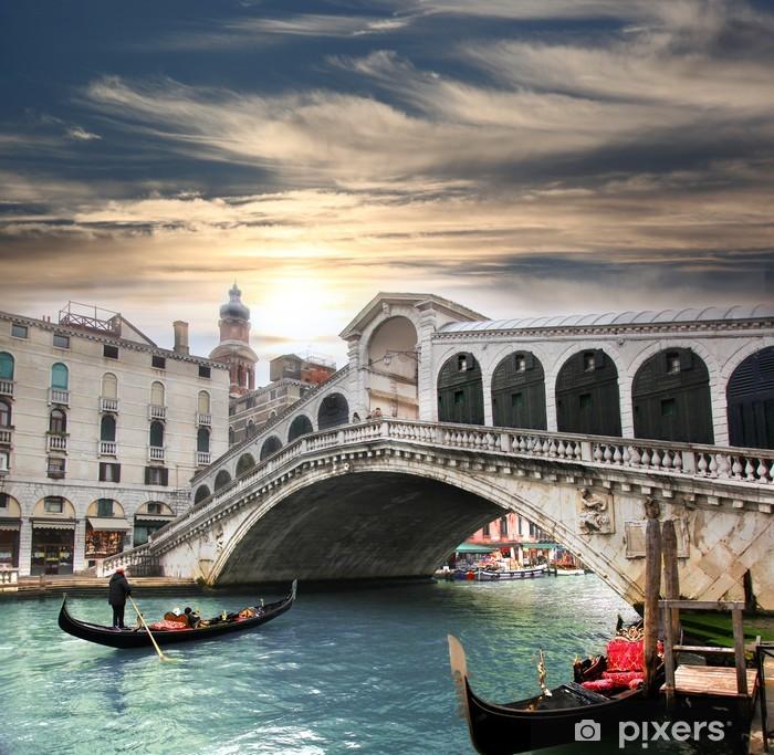 Fototapet av Vinyl Venedig med Rialtobron i Italien -