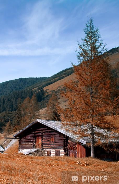 Vinylová fototapeta Almhütte im Herbst - Tirol - Vinylová fototapeta