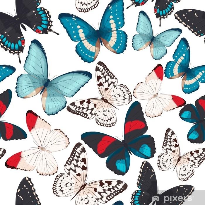 Vinylová fototapeta Barevné motýly bezešvé - Vinylová fototapeta