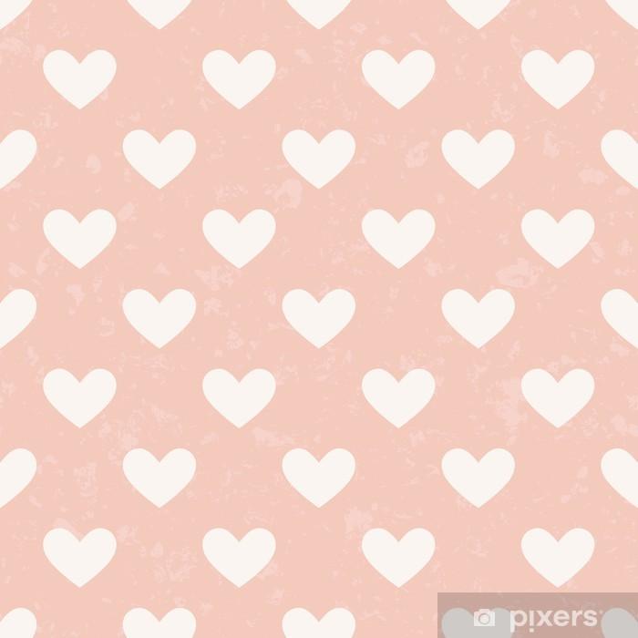 Vinylová fototapeta Bezešvé růžové srdce vzor - Vinylová fototapeta