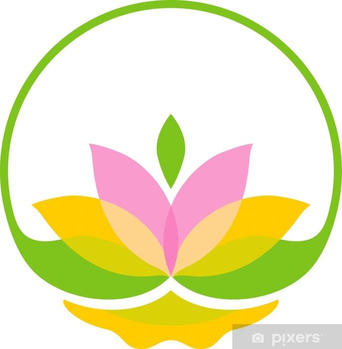 Vinylová fototapeta Bright symbol lotus - Vinylová fototapeta