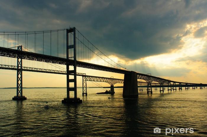 Vinylová fototapeta Chesapeake Bay Bridges z paluby výletní lodi - Vinylová fototapeta