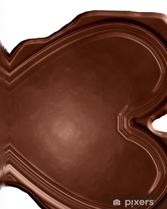 Vinylová fototapeta Čokoládové srdce - Vinylová fototapeta