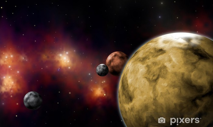 Vinylová fototapeta Extrasolares Planetární systém - Vinylová fototapeta