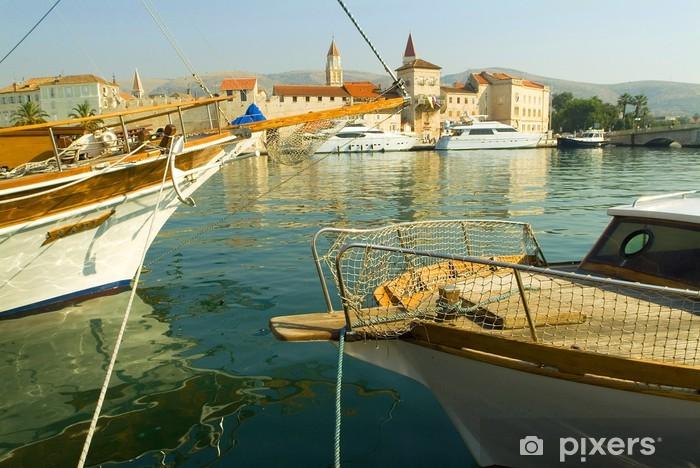 Vinylová fototapeta Jachty v přístavu Trogir - Vinylová fototapeta
