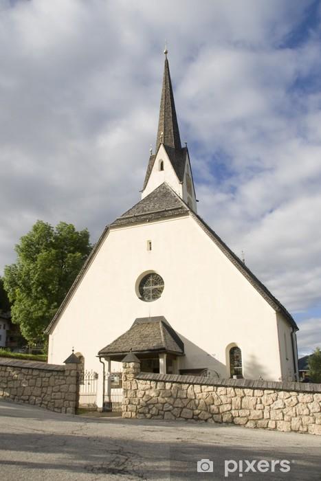 Vinylová fototapeta Kostel v Alta Badia - Vinylová fototapeta