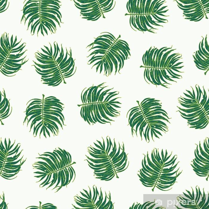 Vinylová fototapeta Květinová Palm Leaf bezešvé vzor - Vinylová fototapeta