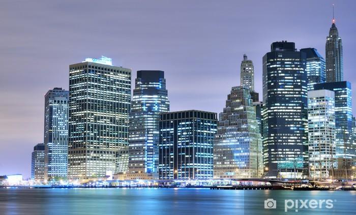 Vinylová fototapeta Manhattan skyline centra - Vinylová fototapeta