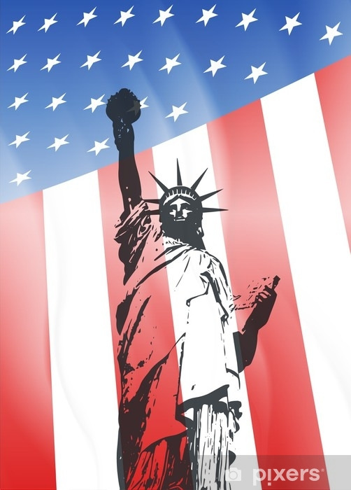 Vinylová fototapeta New york a americký symbol - Vinylová fototapeta