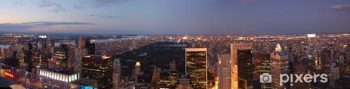 Vinylová fototapeta New York - Sunset - Central Park - Panorama - Vinylová fototapeta