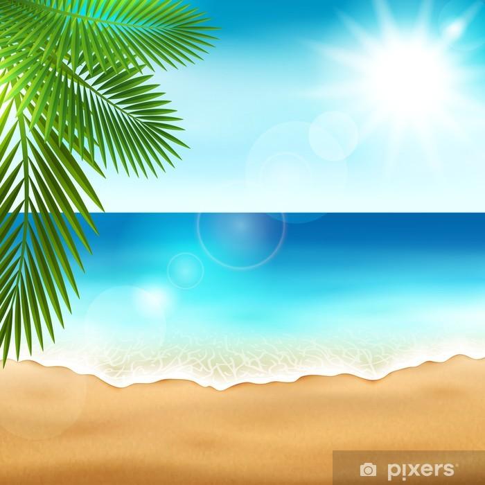 Vinylová fototapeta Pláž moře - Vinylová fototapeta