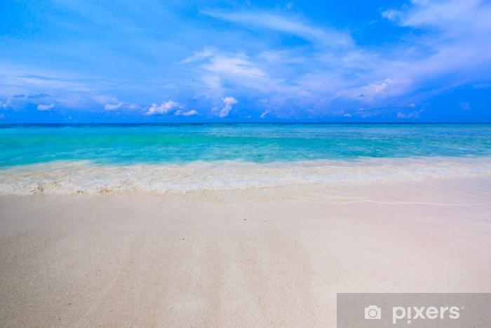 Vinylová fototapeta Pláž tropické křišťálově čisté moře, Tachai island, Andaman, Tha - Vinylová fototapeta