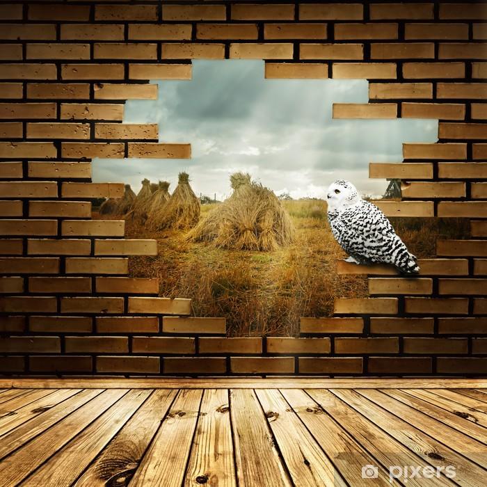 Vinylová fototapeta Příroda v rozbité zdi - Vinylová fototapeta