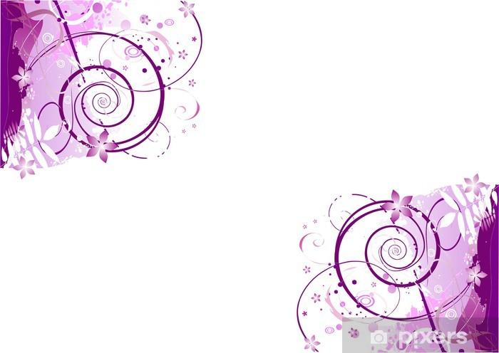 Vinylová fototapeta Rohy růžová purpurové pozadí s ornamentem obrázku - Vinylová fototapeta