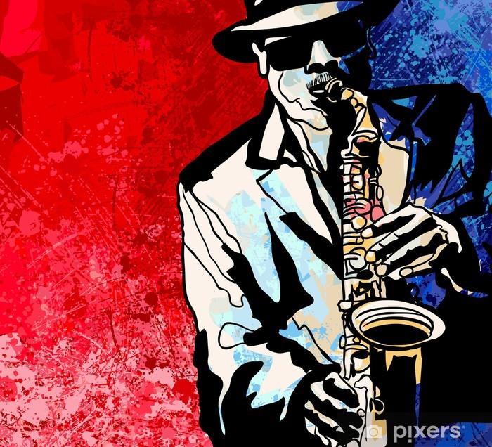 Vinylová fototapeta Saxofonista - Vinylová fototapeta
