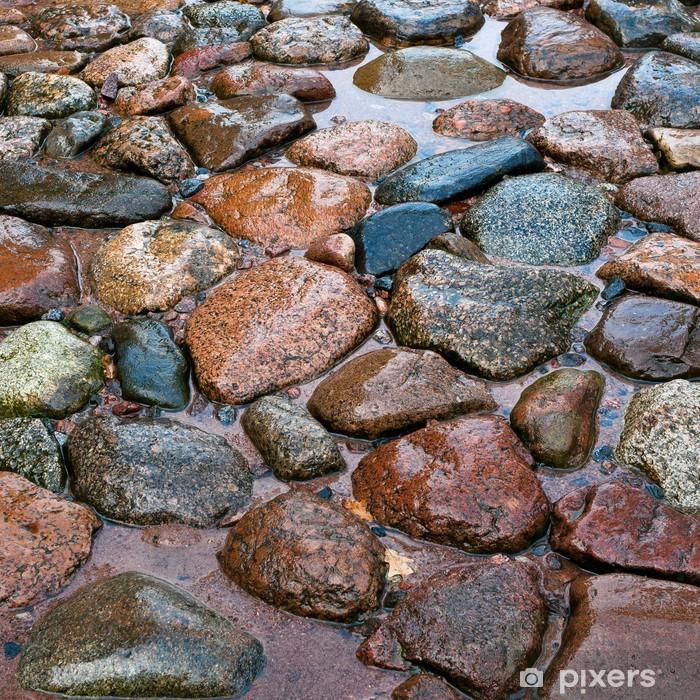 Vinylová fototapeta Silnice z kamene po dešti - Vinylová fototapeta