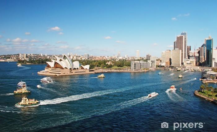 Vinylová fototapeta Sydney Opera House s ferrys v foregournd - Vinylová fototapeta