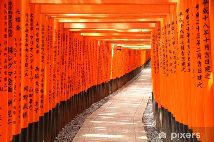 Vinylová fototapeta Torii brána tunel v Kjótu, Japonsko - Vinylová fototapeta