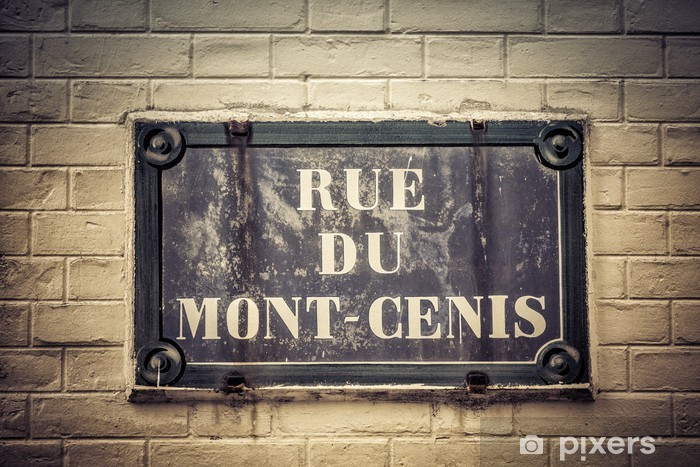 Vinylová fototapeta Tradiční Paris deska s názvem ulice - Vinylová fototapeta