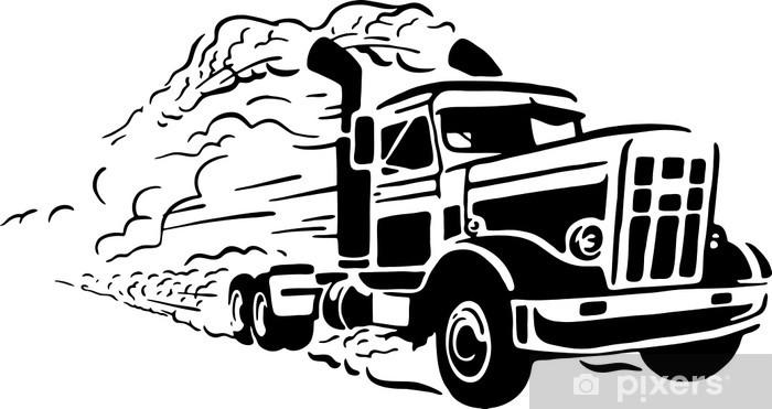 Vinylová fototapeta Vintage truck - Vinylová fototapeta
