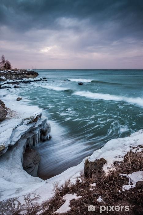 Fototapeta winylowa Zachód słońca nad morzem - Krajobrazy